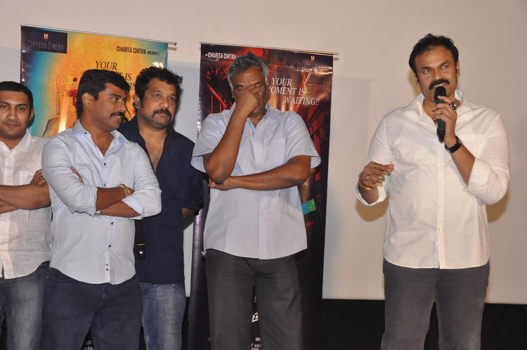 Tammareddy And Nagendra Speaking Still At Pizza Movie 25 Days Function