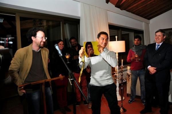 Aamir Khan Cool At The Dhoom 3 Press Conference In Switzerland