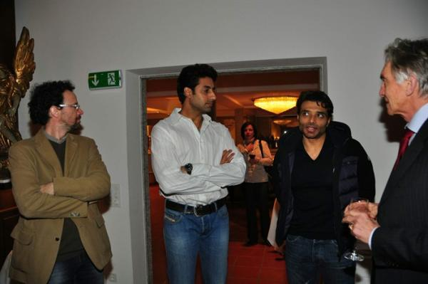 Abhishek And Uday In Discussion At The Dhoom 3 Press Conference In Switzerland