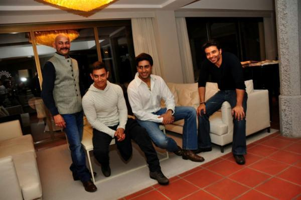Vijay,Aamir,Abhishek And Uday Attend The Dhoom 3 Press Conference In Switzerland
