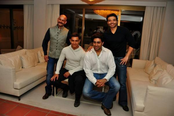 Vijay,Aamir,Abhishek And Uday At The Dhoom 3 Press Conference In Switzerland