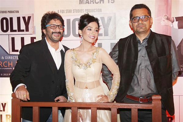 Arshad,Amrita And Subhash Clicked At The Premiere Of The Film Jolly LLB
