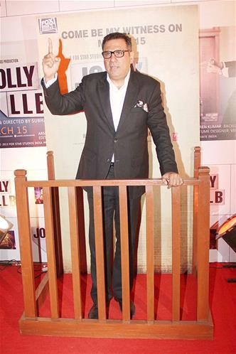 Boman Irani Posed At The Premiere Of The Film Jolly LLB