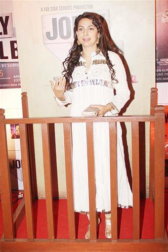 Juhi Chawla Speaking Look At The Premiere Of The Film Jolly LLB