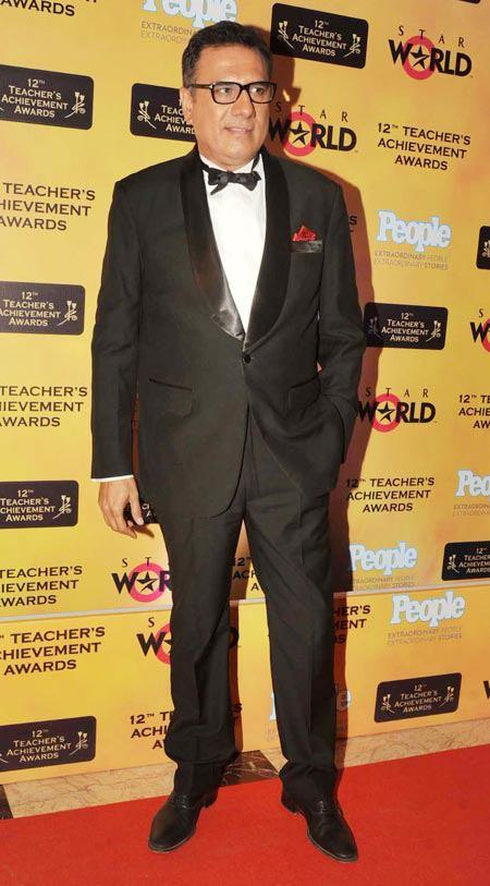 Boman Irani In Red Carpet Posed At Teachers Achievement Awards 2013