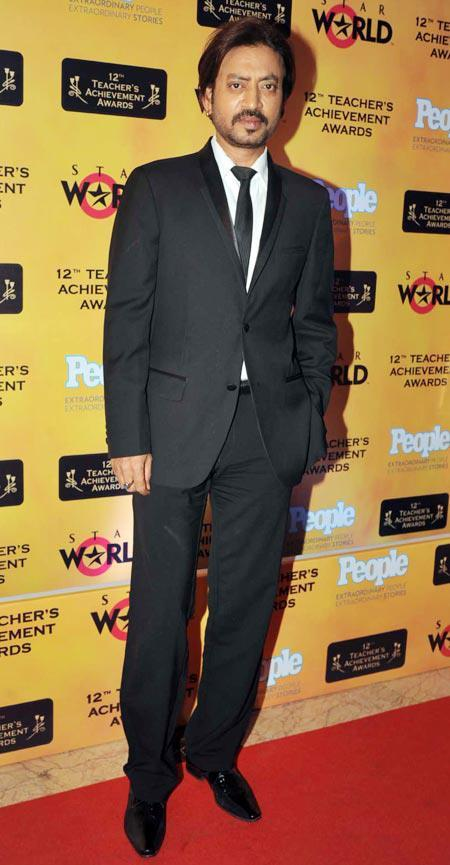 Irrfan Khan In Red Carpet At Teachers Achievement Awards 2013