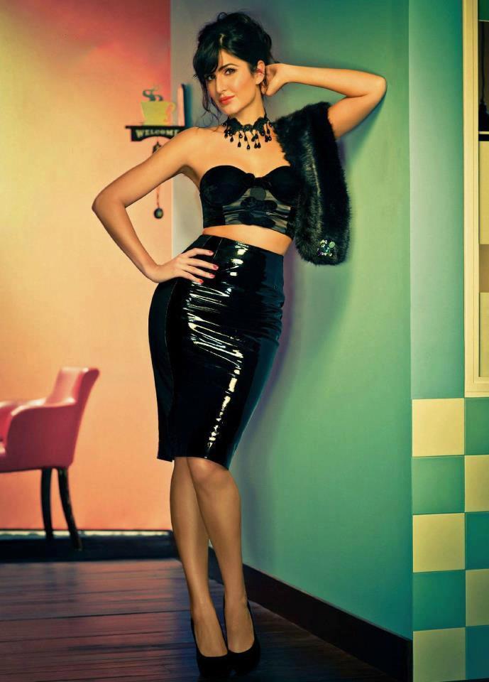Katrina Kaif In Black Ensembles Sexy Look Photo Shoot For Filmfare Magazine March 2013