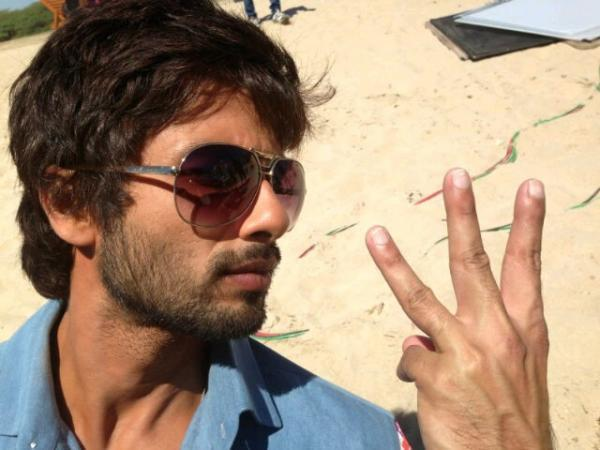 Shahid Kapoor Dashing Look Photo Clicked On The Sets Of Rambo Rajkumar
