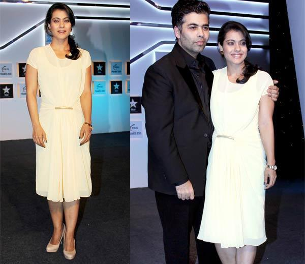 Karan Johar And Kajol Devgan Posed For Camera At The FICCI Frames 2013 Event