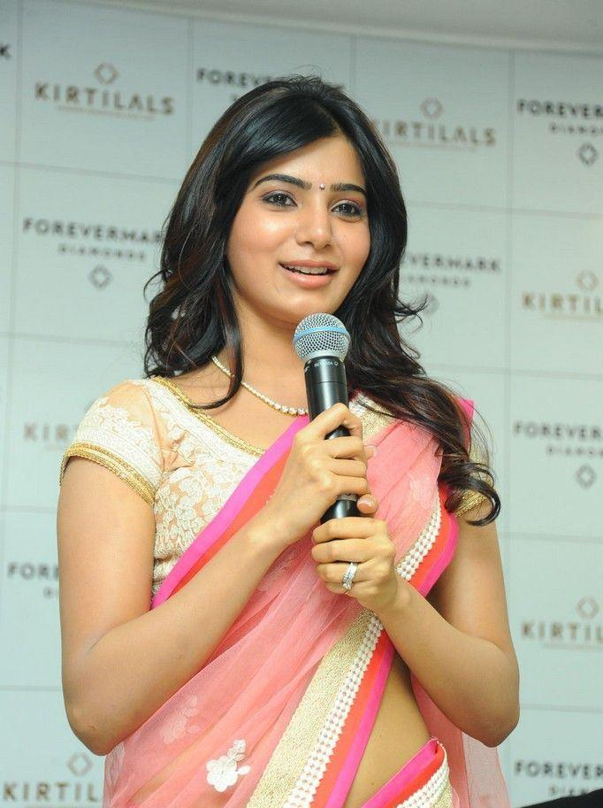 Samantha Addressed The Audience At The Launch Of Diamond Jewellery In Kirtilal Jewellers