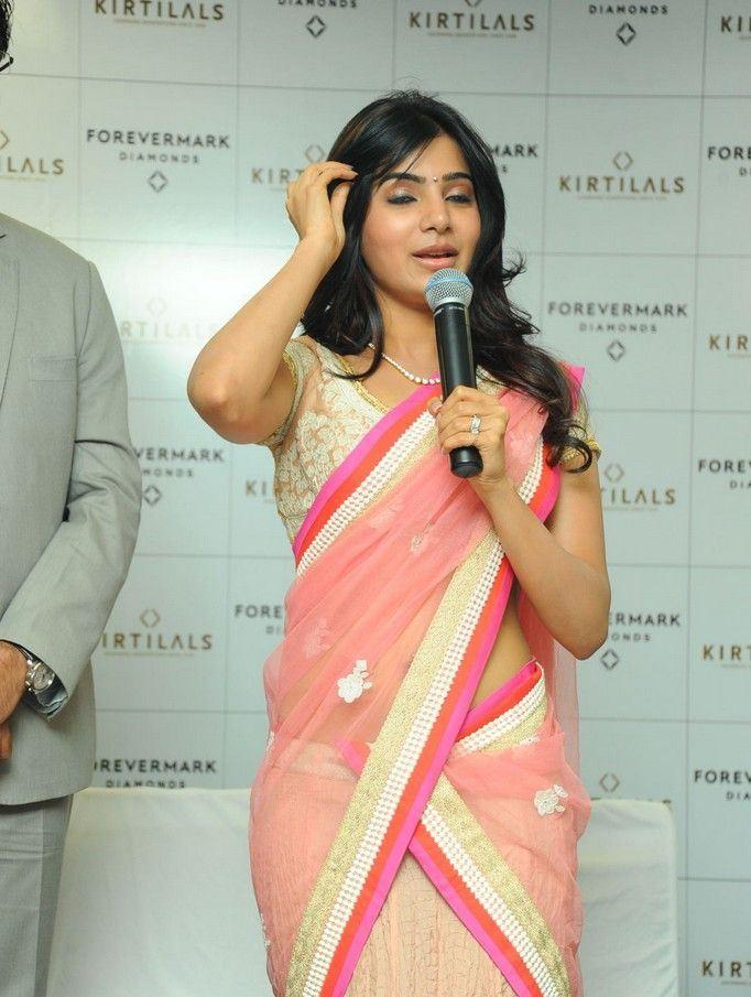 Samantha Photo Clicked At The Launch Of Diamond Jewellery In Kirtilal Jewellers