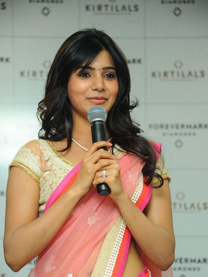 Samantha Speaks Out Photo Clicked At The Launch Of Diamond Jewellery In Kirtilal Jewellers
