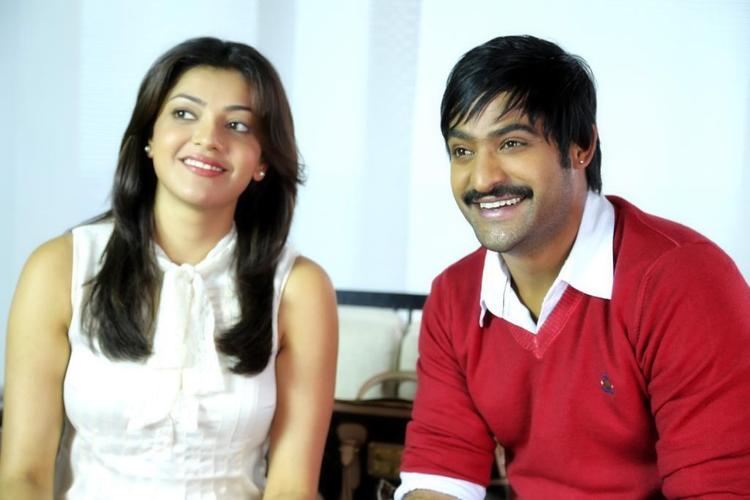 NTR And Kajal Cute Smiling Photo Stills From Movie Baadshah