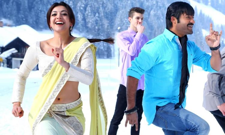 NTR And Kajal Dancing Photo Stills From Movie Baadshah