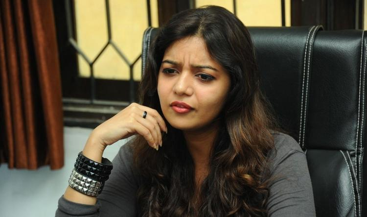 Swati Cute Expression Photo Still At Swamy Ra Ra Movie Interview