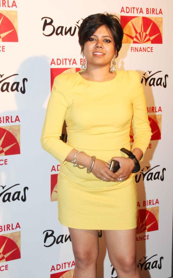 A Celeb SExy Pose In Mini Dress At Bawraas An Evening Of Laughter