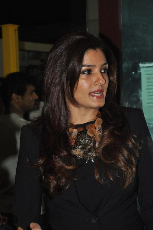 Raveena Make An Appearance At Sonaakshi Raaj's Couture Line Launch
