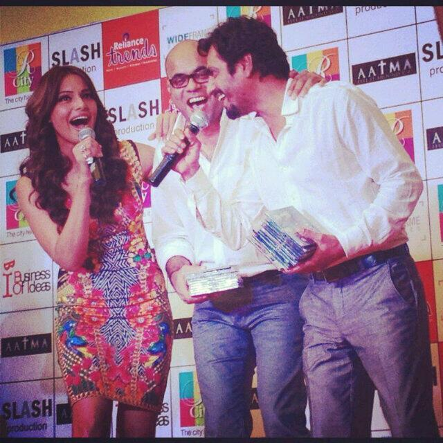 Bipasha,Suparn And Nawazuddin Speak Out Photo Clicked  At Dainik Bhaskar Office For Aatma Promotions