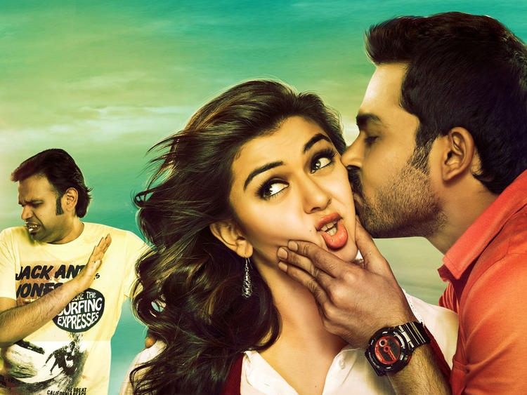 Karthi And Hansika Kissing Photo Still From Movie Biryani