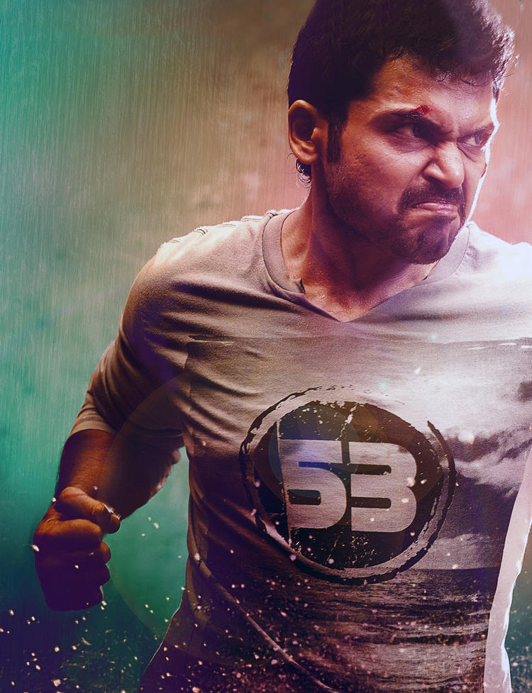 Karthi Angry Look Photo Still From Movie Biryani
