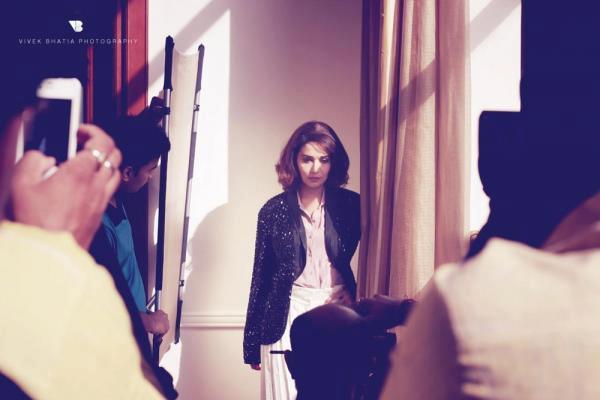 Madhuri Dixit Photo Shoot Still On The Sets Of Filmfare Magazine
