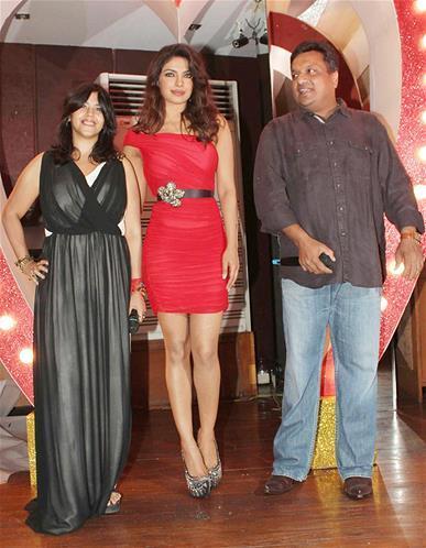 Ekta,Priyanka And Sanjay Snapped At Launch Of Babli Badmaash Song