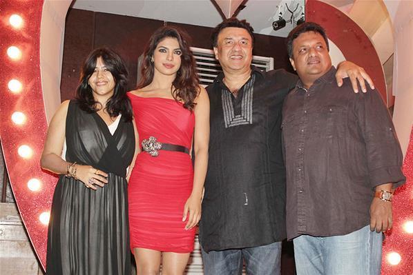 Ekta,Priyanka,Anu And Sanjay Posed For Shutterbugs At Launch Of Babli Badmaash Song