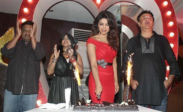 Priyanka Cake Cutting Photo Clicked At Launch Of Babli Badmaash Song