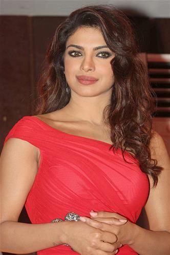 Priyanka Looked Glamorous In A Red Dress At Launch Of Babli Badmaash Song