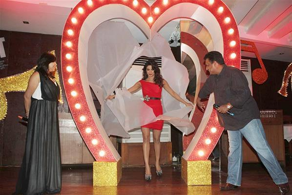 Priyanka In A Red Retro Avatar At Launch Of Babli Badmaash Song