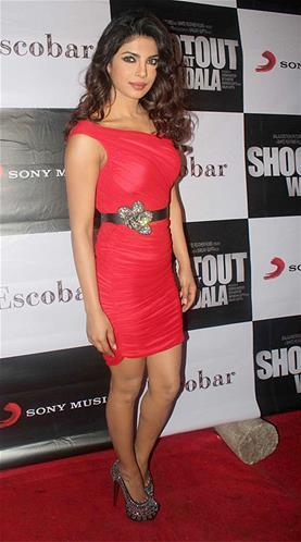 Priyanka Spicy Pose On Red Carpet At Launch Of Babli Badmaash Song