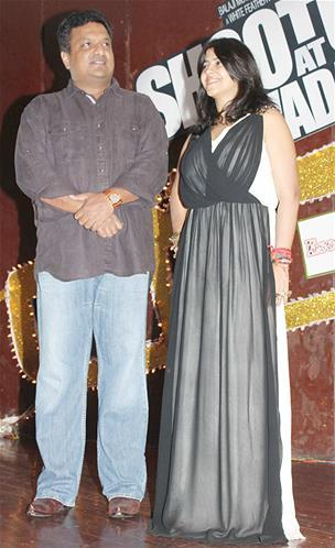 Sanjay And Ekta Spotted At Launch Of Babli Badmaash Song