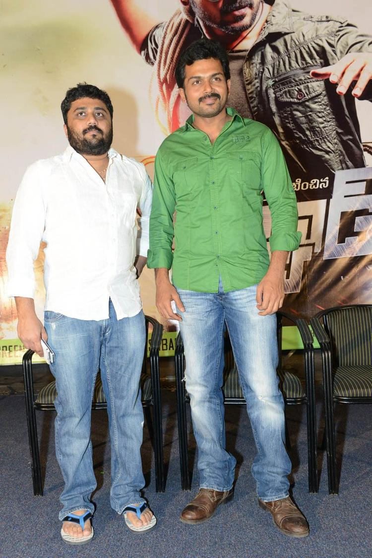 Karthi And Gnanavelraja Make An Appearance At Bad Boy Press Meet