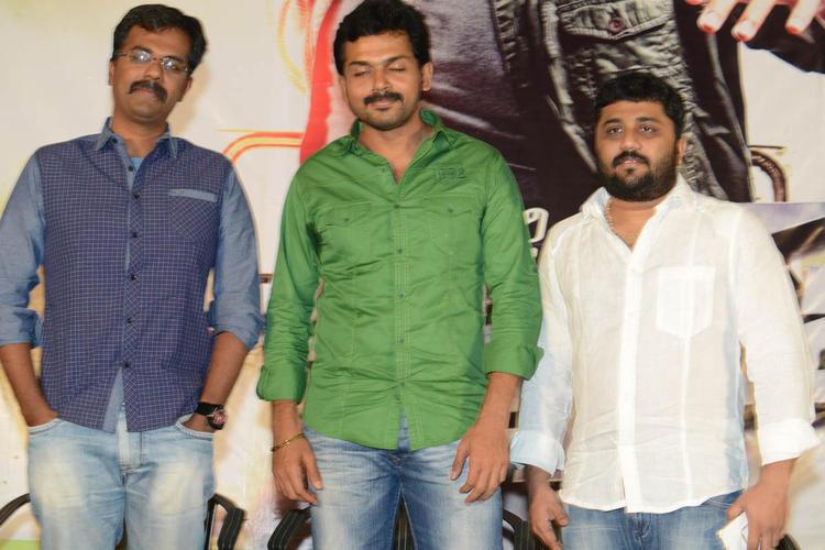 Karthi And Gnanavelraja Photo Clicked At Bad Boy Press Meet