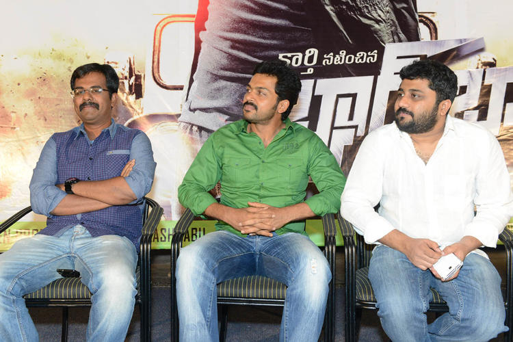 Karthi And Gnanavelraja Snapped At Bad Boy Press Meet