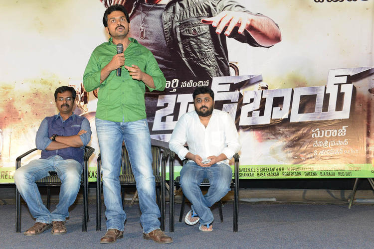 Karthi Speaks Out Photo Clicked At Bad Boy Press Meet