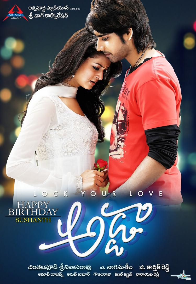 Sushanth And Shanvi Cosy Photo Wallpaper Of Movie Adda