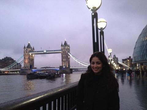 Yami Gorgeous Look Photo Still At London In A Day Out From Shooting Of Aman Ki Aasha