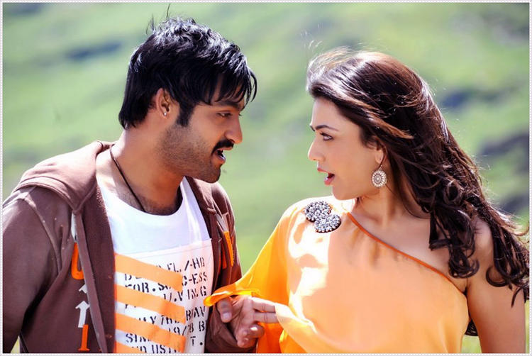 Jr. NTR And Kajal Crazy Look Photo Still From Movie Baadshah