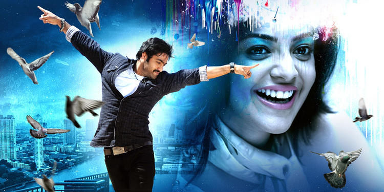 Jr. NTR And Kajal Cute Smiling Pose Photo Still From Movie Baadshah