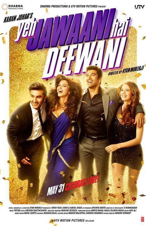 Ranbir,Deepika And Kalki In Yeh Jawaani Hai Deewani Movie Wallpaper