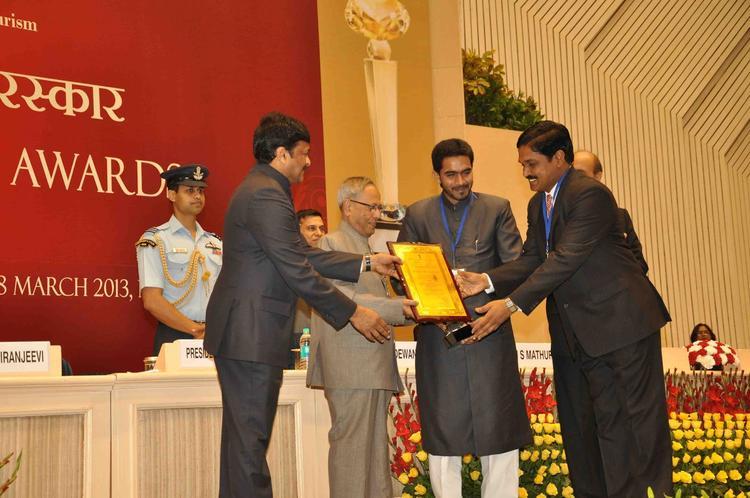 Pranab Mukherjee And Chiranjeevi Present The Awards At National Tourism Awards 2011-2012 Presentation Ceremony