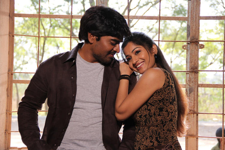 Srinivas And Madhavi Cosy Photo Still From Movie Aravind 2