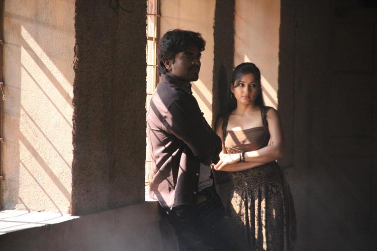 Srinivas And Madhavi Nice Look Photo Still From Movie Aravind 2