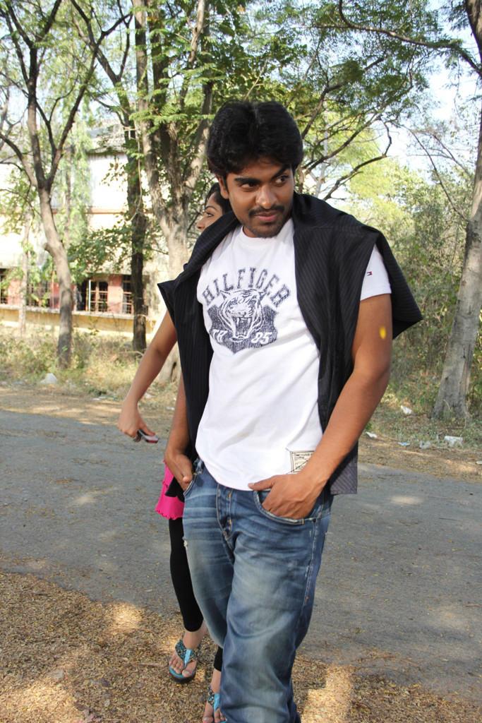 Srinivas Stylish Pose Photo Still From Movie Aravind 2