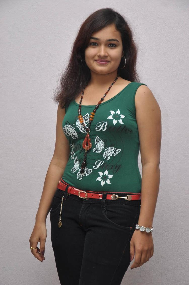 Mythili Charming Look Photo Still At Double Trouble Movie Platinum Disc Function