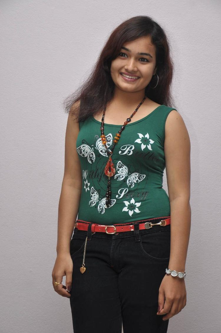 Mythili Cute Smiling Photo Still At Double Trouble Movie Platinum Disc Function
