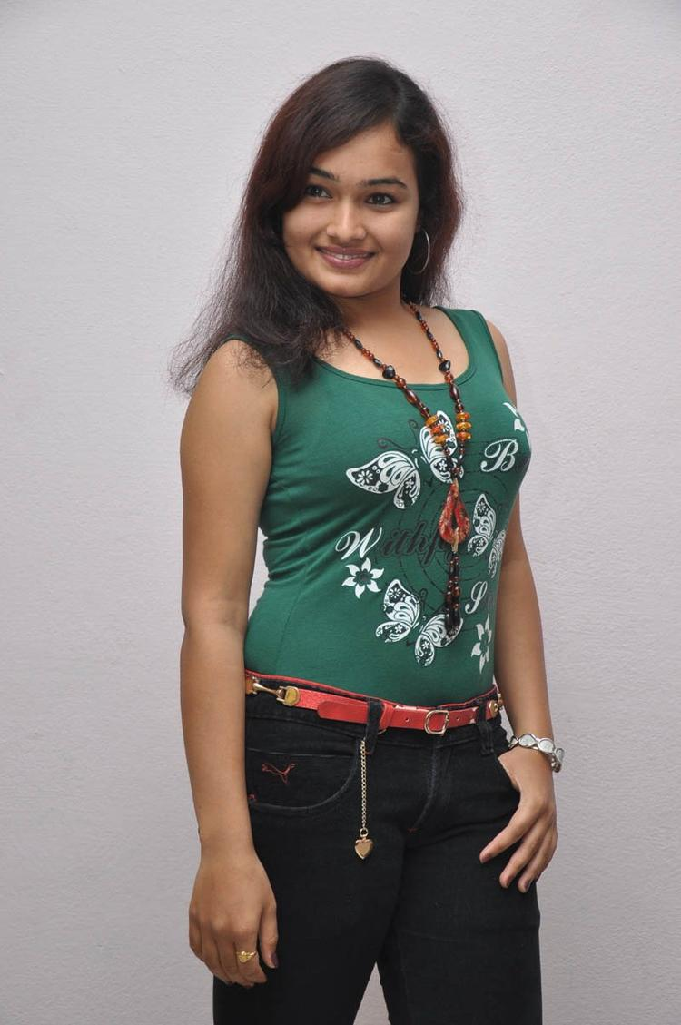 Mythili Looked Hot In A Sleeveless Dress At Double Trouble Movie Platinum Disc Function