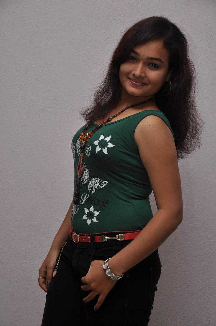 Mythili Sexy Pose Photo Still At Double Trouble Movie Platinum Disc Function