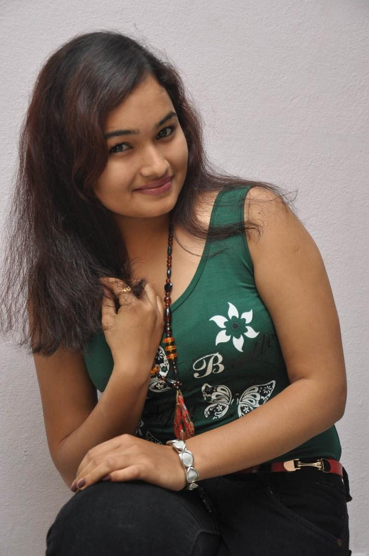 Mythili Sexy Smiling Photo Still At Double Trouble Movie Platinum Disc Function